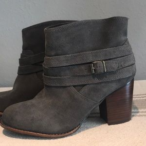 Splendid Laventa Strapped suede ankle boots